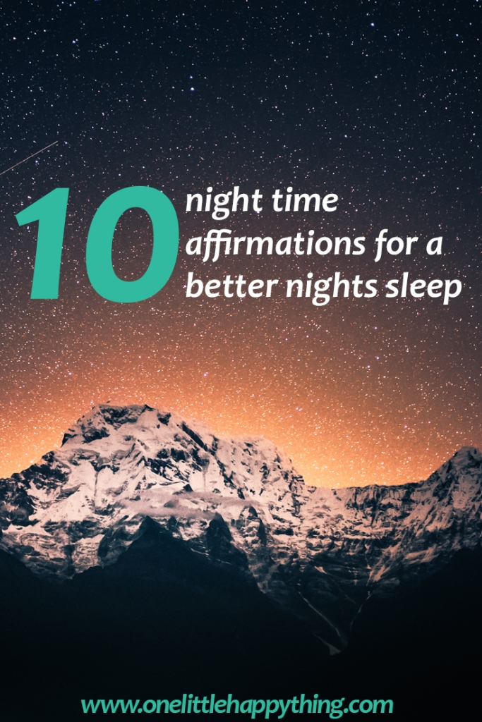 10 night time affirmations for a better nights sleep